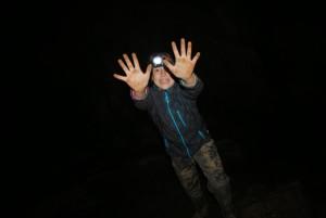 Momentka v jeskyni