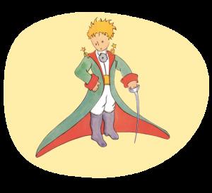 Malý princ na žlutém pozadí